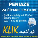 KLIKmail.sk - platíme za čítanie emailov